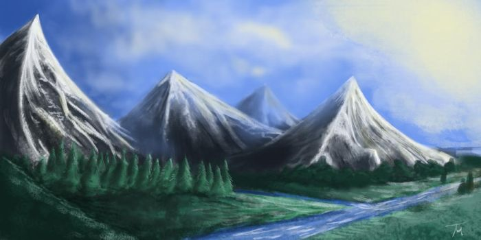 Mountain Speed Painting by Terry-Mosier