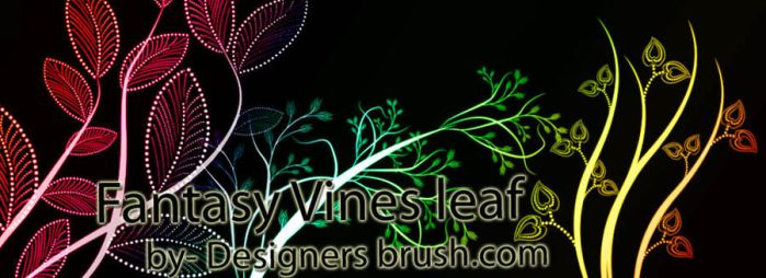Fantasy Vines leaf Photoshop brushes by designersbrush