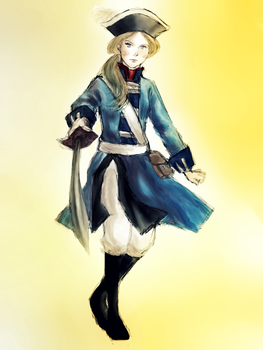 Bavaria OC in uniform by HollyMoore