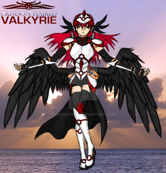 Crimson-Haired Valkyrie by OrangeSbr