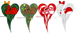 Heart Pony Adopts 9(Christmas Themed) by DerpyNinjaAdopts