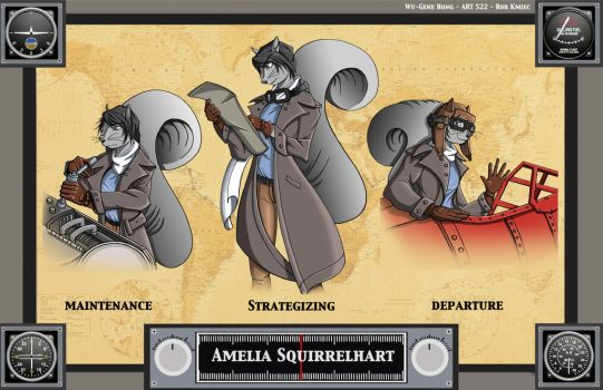 Amelia Squirrelhart Actions by Wu-Gene