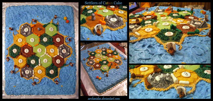 Settlers of Catan Cake by Archaeidae