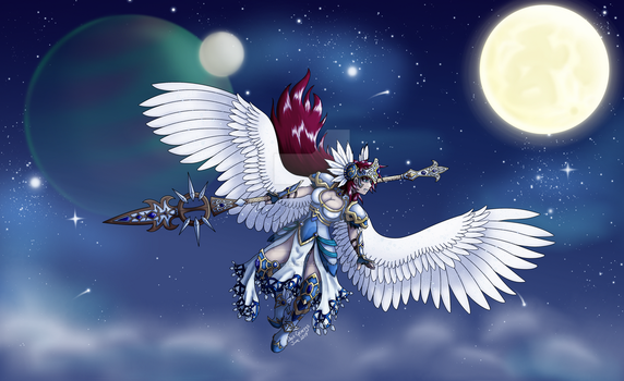 OC: Ezallyia Valkyrie - Aether Queen (Nighttime) by Dark-Genesys