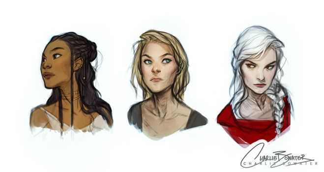 Throne of Glass Sketches by Charlie-Bowater