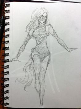 Ms. Marvel Sketch by scottzirkel