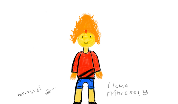 flame princess (first art) by mrabudi