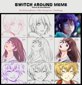 Switch Around Meme -Noragami- by piko-chan4ever