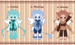 .:SPECIAL EGG ADOPTABLES: HATCHED:. by GloryCat