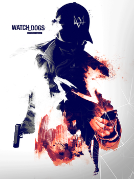 Watch Dogs Poster - The hacker by infectiousdesigner