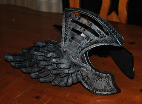 Valkyrie head gear tiara leather by Lagueuse