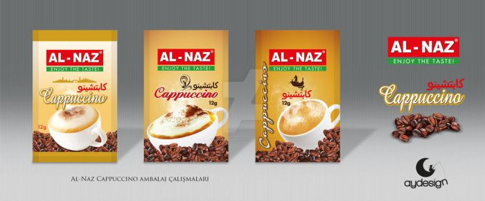 Al-Naz Mini Cappuccino Packaging Design by aydesignmedia