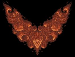 phoenix rising front by queenofeagles