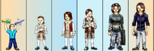 My Age Progression by EclecticNinja