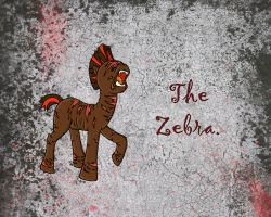Silent Ponyville: The Zebra by aguantegrimtales