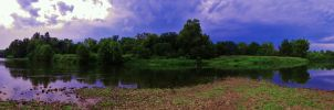 River Bend Panorama by Stone1980