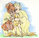 #366 Days of Sketches - 336 - Vulpix And Ninetales by SatraThai