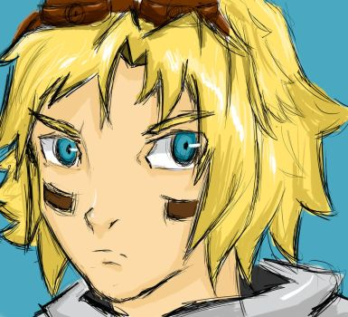 Just an Ezreal Sketch by DarkDre