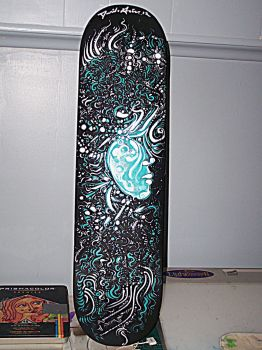 Skateboard Deck Painting by davidgrice