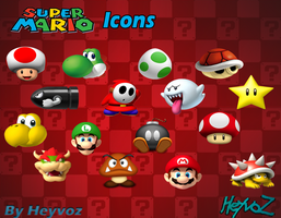 Super Mario Bros Icons by Heyvoz