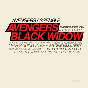 Typography project Black widow by KimShuttle