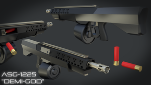ASG-1225 'DEMI-GOD' WIP (Material Render) 1080p HD by MatchSignal3D