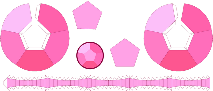 RoseQuartz Gem Papercraft Template by portadorX