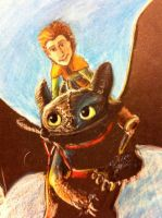 toothless and hiccup by Jillybean345