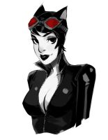 Catwoman sketch by AaronNSN