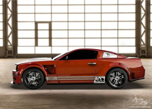 ford mustang 2 by Haitham3d