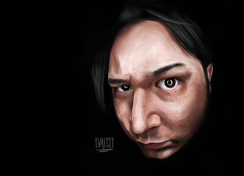 Digital art portrait by EVALYSEgraphics