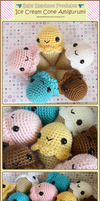 .:Ice Cream Cone Amigurumi:. by moofestgirl
