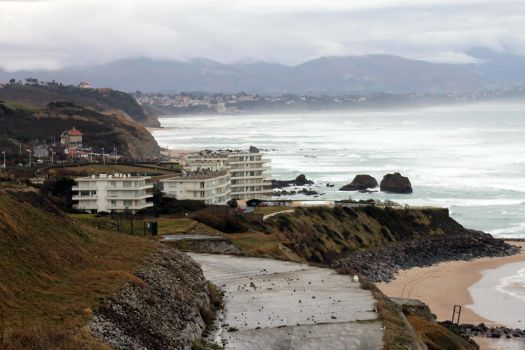 Biarritz landscape stock by joelshine-stock
