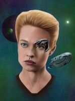 Seven of Nine and Space by Scheherazade2c