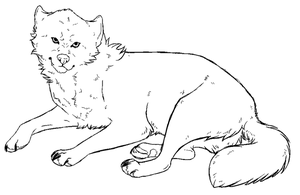 Free Wolf Lineart by KaylaScelson