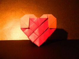 Origami Standing Heart by NordyFox