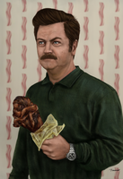 Ron F***ing Swanson by thesadpencil