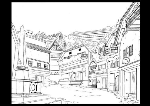 Old Town by DrawSlowly