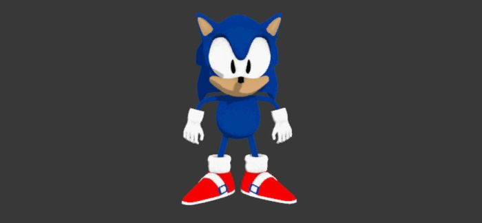3D Sonic (Wip) Turnaround by blackdragonstory