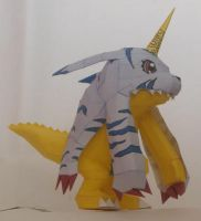 Papermodell: Gabumon by WhiteRoo