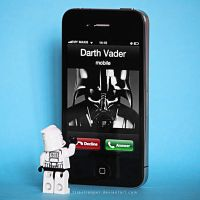 darth vader calling by triaxtrooper