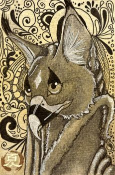 ACEO - 'Another World' by KrestelCat
