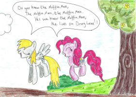 Derpy and Pinkie in: The Muffin Man by UlyssesGrant