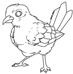 RQ Bird Lineart by AbyssinChaos
