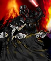 Vader v Witch King -Colored by ssejllenrad2
