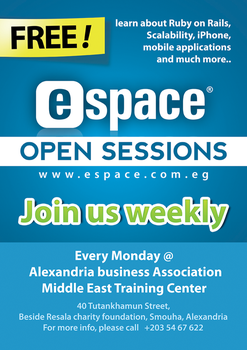 eSpace open sessions poster by ramezmohamed