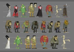 classic monsters by Entropician