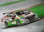 Honda Civic WTCC drawing by RACING-IS-MY-LIFE
