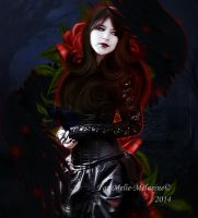 Angel of Roses by MelieMelusine