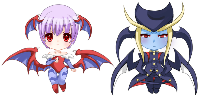 Chibis Lilith and Jedah by ririsuchan1401